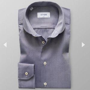 Eton Navy Microweave Shirt